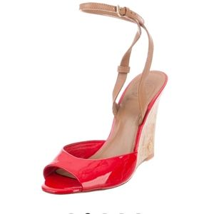 Tory Burch Red Wedge Platform Sandals size 7 M